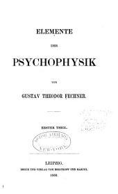 Elemente der Psychophysik: Band 1