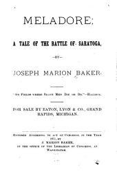 Meladore: A Tale of the Battle of Saratoga
