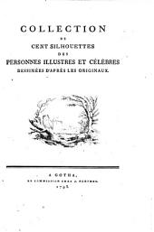Collection de cent silhouettes des personnes illustres et célèbres [Anthing, Johann Friedrich]