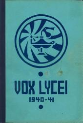 Vox Lycei 1940-1941