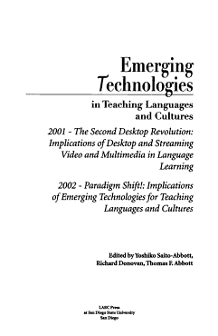 Emerging Technologies in Teaching Languages and Cultures PDF