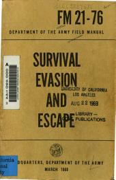 Survival, Evasion, and Escape