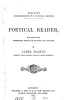 Poetical reader  by J  Martin PDF