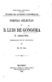 Poesias selectas de D. L. de G. y A., precedidas de su biografia por M. G(onzalez) Ll(ana).