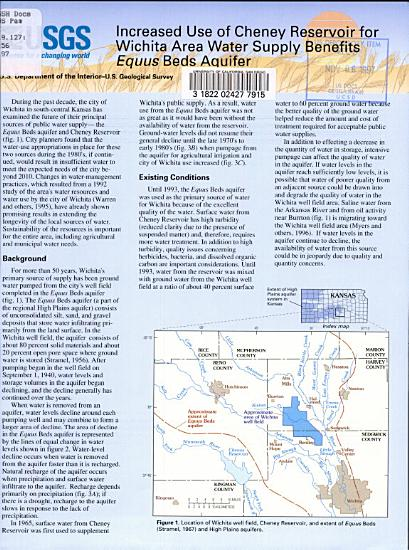 Increased Use of Cheney Reservoir for Wichita Area Water Supply Benefits Equus Beds Aquifer PDF