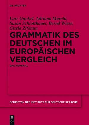 Grammatik des Deutschen im europ  ischen Vergleich PDF