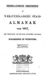 Nederlandsche residentie- en 's Gravenhaagsche stads-almanak voor ....: Volume 12