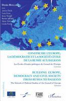 Construire l Europe  la d  mocratie et la soci  t   civile de l PDF