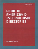 Guide to American and International Directories PDF