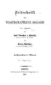 Zeitschrift für wissenschaftliche Zoologie: Band 18