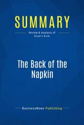 Summary: The Back of the Napkin: Review and Analysis of Roam's Book