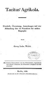 Abhandlung über Tacitus' Agrikola oder die Kunstform der antiken Biographie
