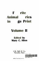 Favorite Animal Stories in Large Print PDF
