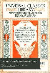 Persian and Chinese Letters: Being the Lettres Persanes
