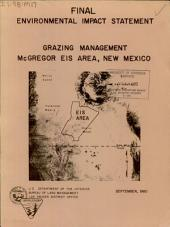 Grazing management: McGregor Eis Area, New Mexico