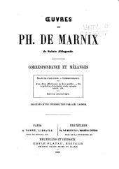 Oeuvres: Correspondance et mélanges,précédés d'une introduction par Alb. Lacroix