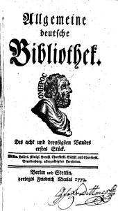 Allgemeine deutsche Bibliothek: Band 38