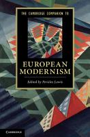 The Cambridge Companion to European Modernism PDF