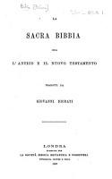 La Sacra Bibbia  ossia l Antico e il Nuovo Testamento  Tradotti da Giovanni Diodati PDF