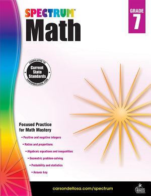 Spectrum Math Workbook  Grade 7