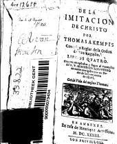 De la imitacion de Christo por Thomas a Kempis ... libros quatro