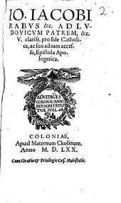 Pro fide catholica Epistola apologetica