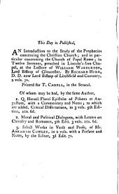 A Moral Demonstration of the Truth of the Christian Religion: With an Introduction on the Nature and Force of Probable Arguments. First Printed in the Year 1660, and Now Accurately Reprinted by the Editor, Volume 5