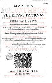 Maxima bibliotheca veterum patrum et antiquorum scriptorum ecclesiasticorum, primo quidem a Margarino de La Bigne,... in lucem edita, deinde... in Universitate coloniensi doctorum studio, plurimis authoribus et opusculis aucta, ac historica methodo per singula saecula quibus scriptores quique vixerunt disposita, hac tandem editione lugdunensi ad eandem coloniensem exacta, novis supra centum authoribus et opusculis... locupletata et in tomos XXVII distributa [P. Despont instauratore]. Huic etiam editioni accesserunt indices quatuor...