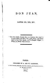 Don Juan: Cantos XII.-XIII.-XIV.