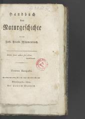 Handbuch der Naturgeschichte: Band 1