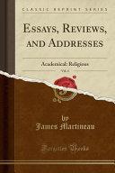 Essays  Reviews  and Addresses  Vol  4 PDF