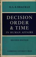 Decision Order   Time in Human Affairs PDF