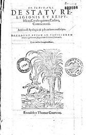 Io. Sleidani. De Statu religionis et reipublicae, Carolo quinto Caesare, Commentarii. Addita est Apologia ab ipso authore conscripta...