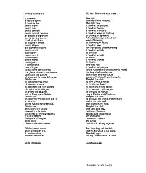 Hundred languages of children PDF