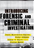 Introducing Forensic and Criminal Investigation PDF