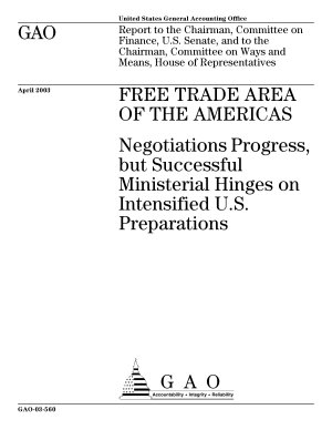 Free Trade Area of the Americas negotiations progress  but successful ministerial hinges on intensified U S  preparations PDF