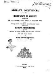 Modificazioni ed aggiunte apportate al piano organico dell'11 giugno 1850 tanto per i quadri di formazione dei differenti corpi costituenti le truppe indigene di linea
