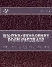 Master and Submissive or Slave BDSM Contract