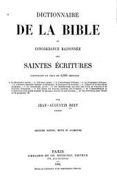 Dictionnaire de la Bible: ou concordance raisonnée des Saintes Écritures contenant, en plus de 4,000 articles, Volume977