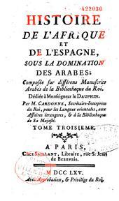 Histoire de l'Afrique et de l'Espagne sous la domination des Arabes