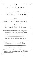 An Extract of the Life  Death and spiritual experience of Mrs A  Smyth  written by herself   PDF