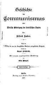 Geschichte des communismus; oder Historische widerlegung der socialistischen utopien