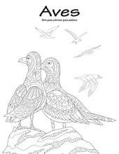 Aves libro para colorear para adultos 1