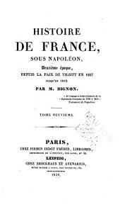 Histoire de France depuis 1799 jusqu'en 1812: Volume9