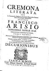 Cremona literata... auctore Francisco Arisio