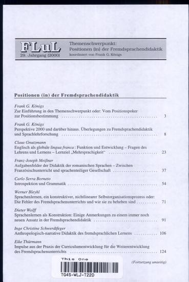 Positionen  in  der Fremdsprachendidaktik PDF