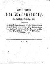 Fortsetzung der Aktenstücke die fränkische Grafensache betreffend
