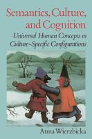 Semantics  Culture  and Cognition PDF
