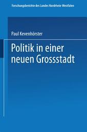 Politik in einer neuen Großstadt: Entscheidungen im Spannungsfeld von City und Stadtbezirken