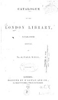 Catalogue of the London Library  Established 1841     PDF